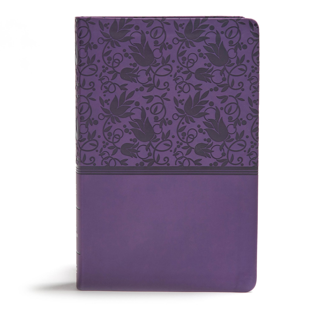 KJV Giant Print Reference Bible, Purple LeatherTouch