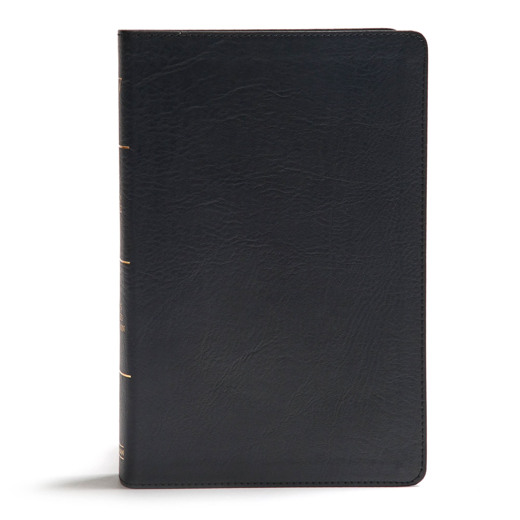 KJV Giant Print Reference Bible, Black LeatherTouch, Indexed