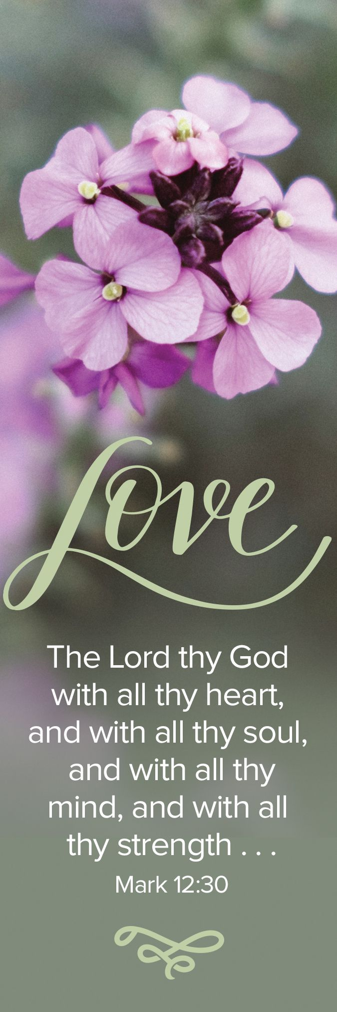 Love The Lord – Bookmark (Pkg 25) General Worship