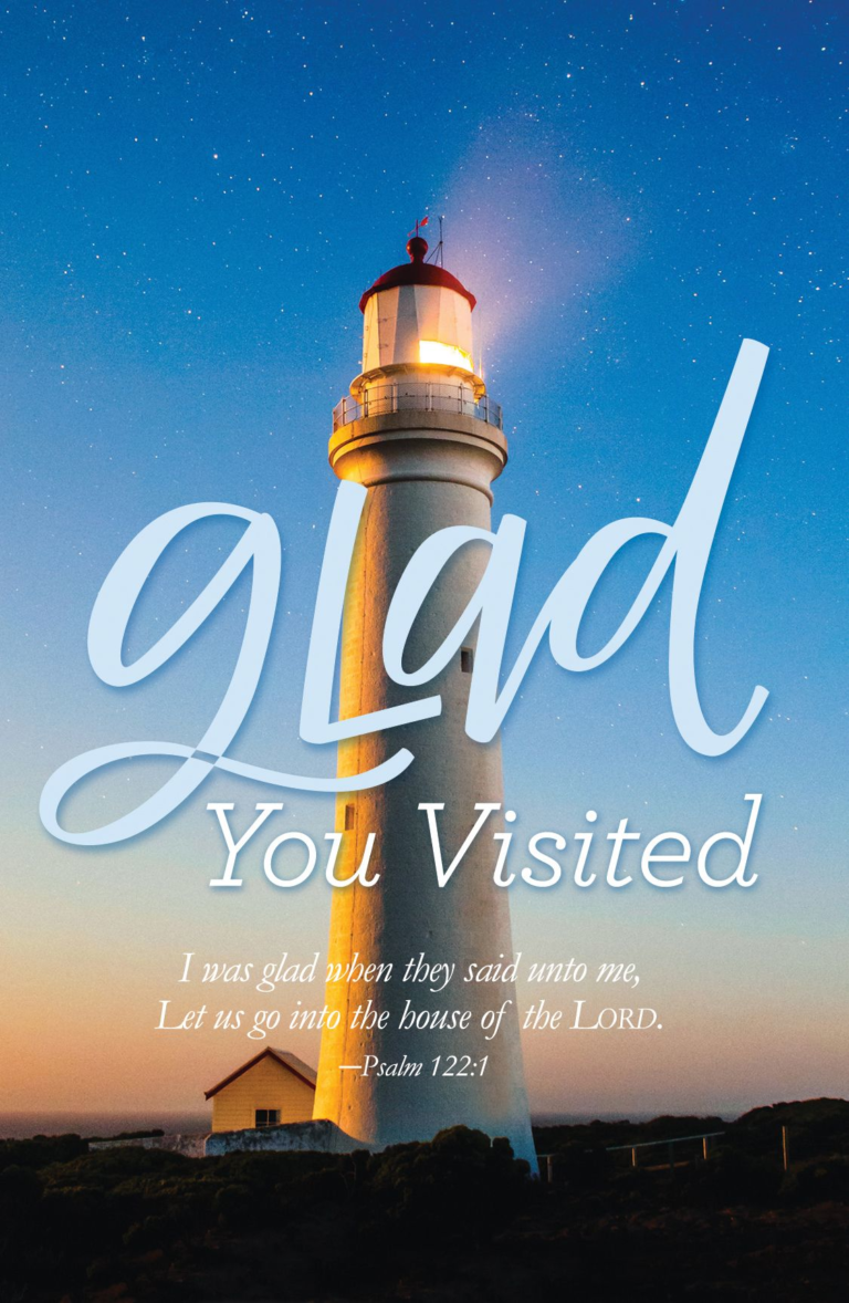 Glad You Visited – Lighthouse – Postcard (Pkg 25)  General Worship