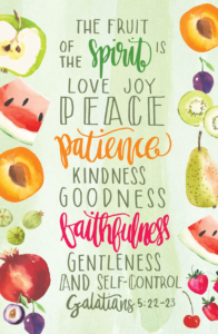 Fruit Of The Spirit – Postcard (Pkg 25)  General Worship