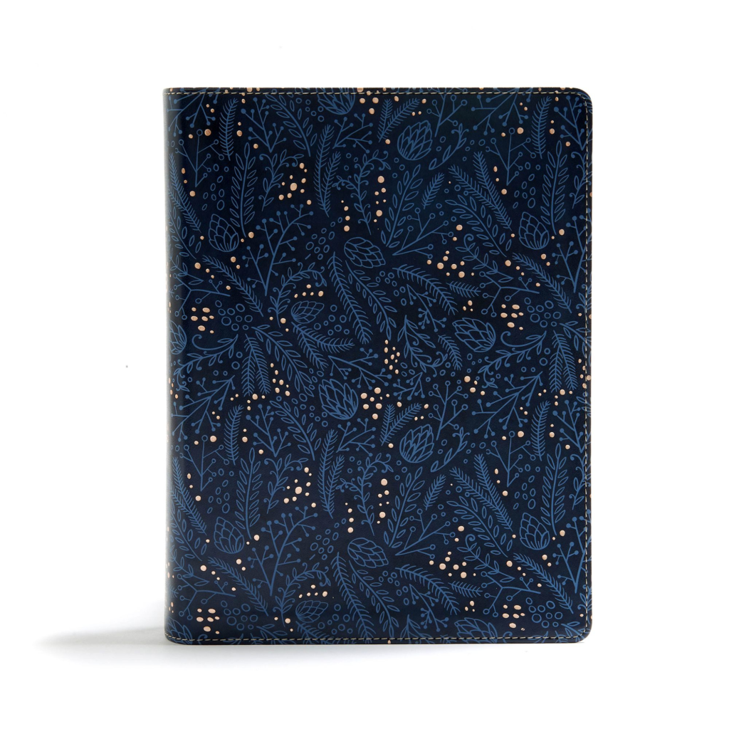 CSB Study Bible, Navy LeatherTouch