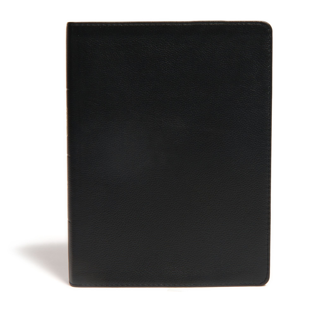 CSB Life Essentials Study Bible, Black Genuine Leather