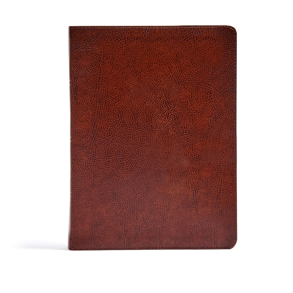 CSB Verse-by-Verse Reference Bible, Brown Bonded Leather