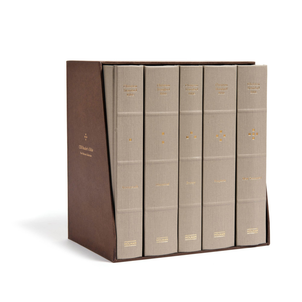 CSB Reader's Bible, Cloth-Over-Board, Five-Volume Collection