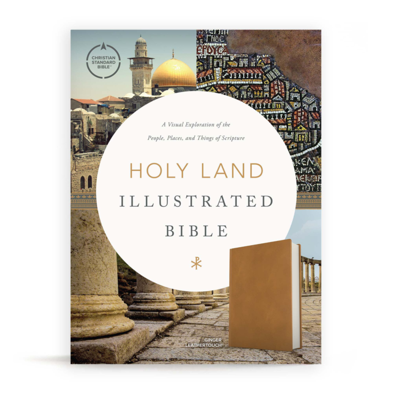 CSB Holy Land Illustrated Bible, Ginger LeatherTouch