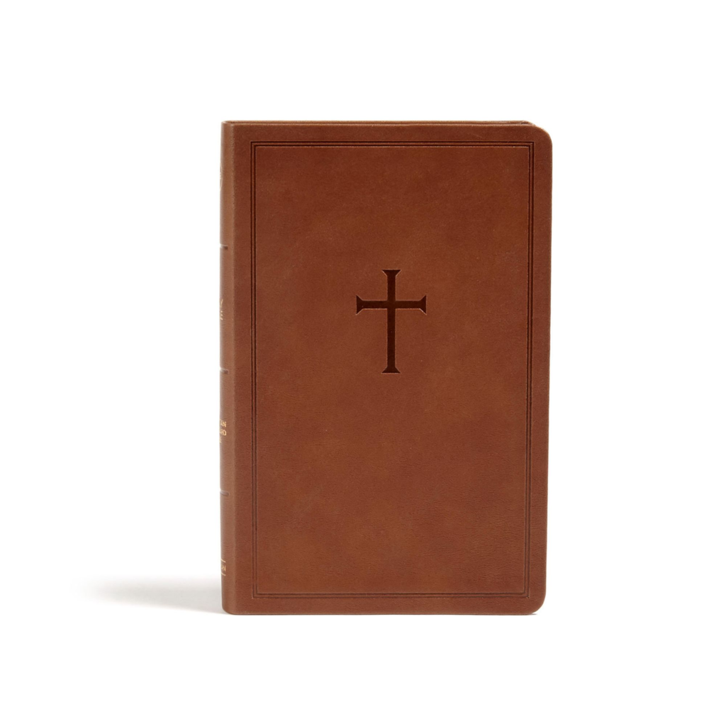 CSB Personal Size Bible, Brown LeatherTouch