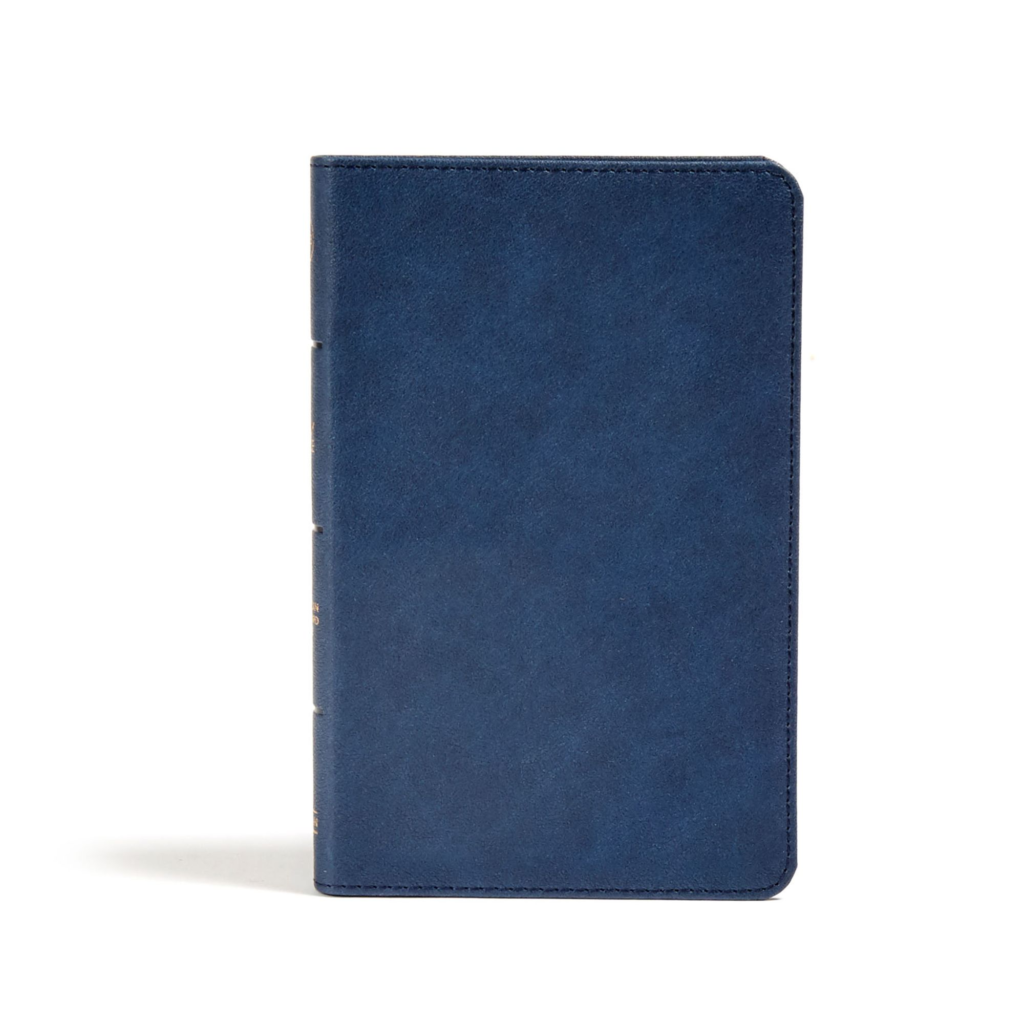 CSB Personal Size Bible, Navy LeatherTouch