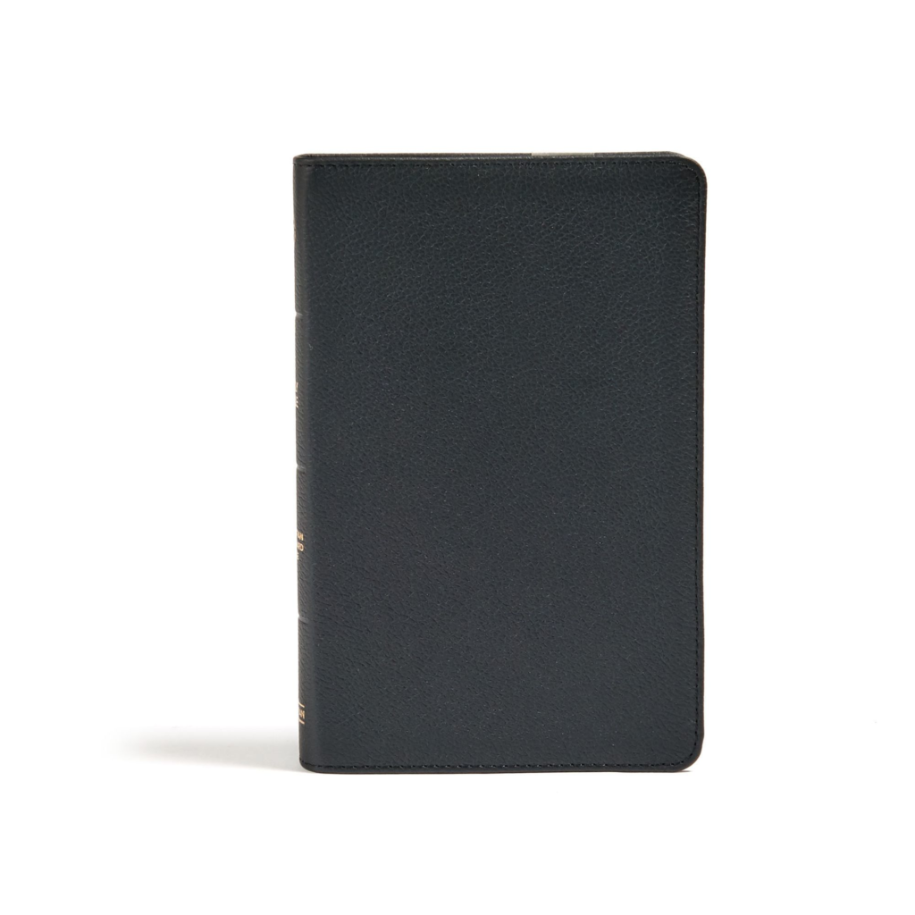 CSB Personal Size Bible, Black Genuine Leather