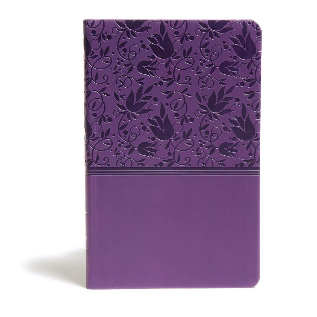 KJV Ultrathin Reference Bible, Purple LeatherTouch