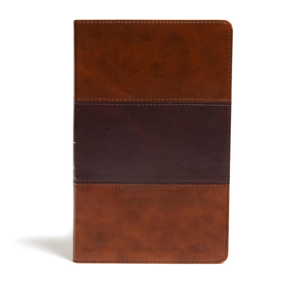 KJV Ultrathin Reference Bible, Saddle Brown LeatherTouch
