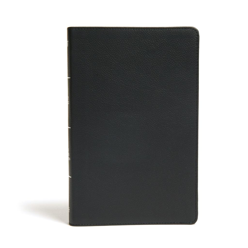 KJV Ultrathin Reference Bible, Black Genuine Leather, Indexed