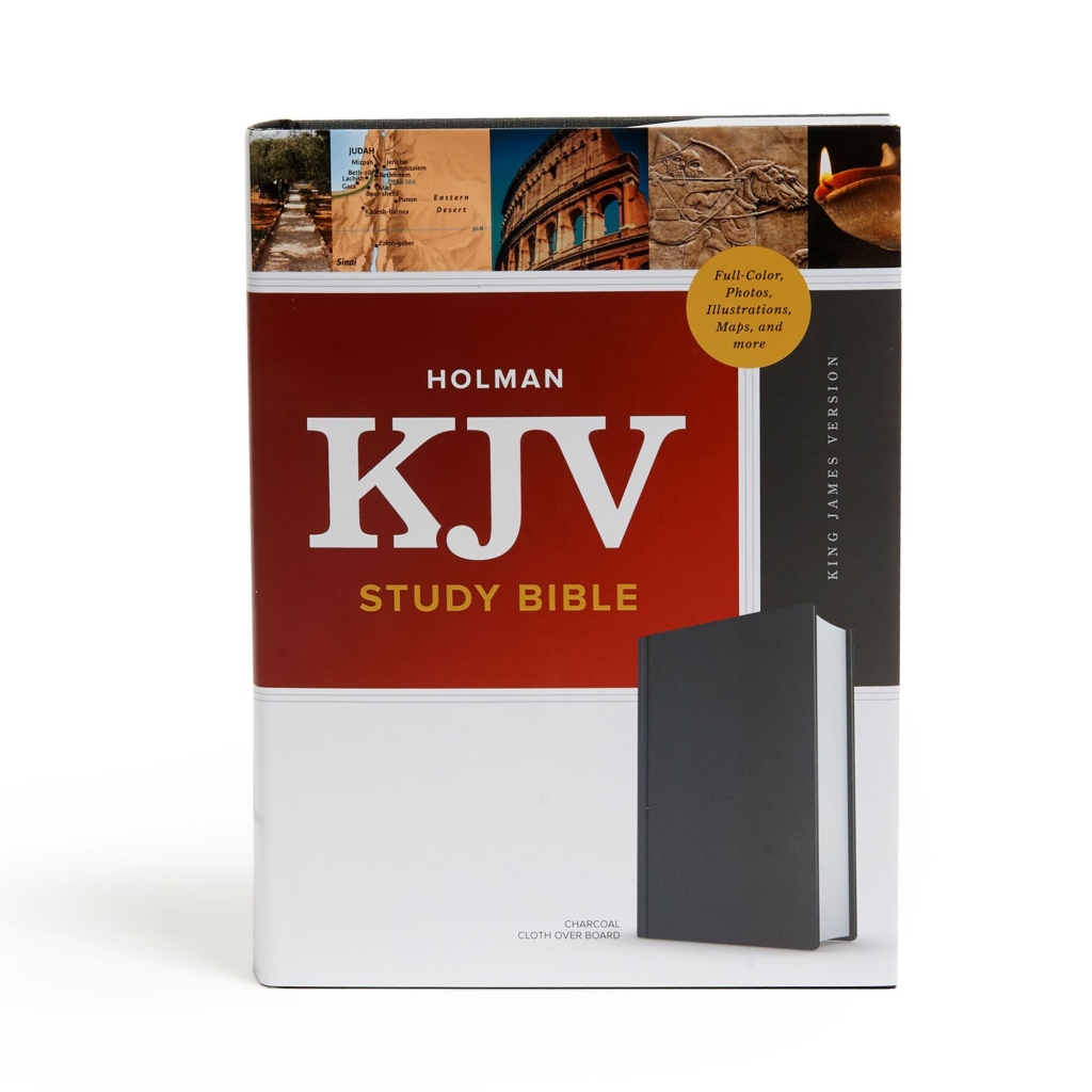 KJV Study Bible, Full-Color, Charcoal Cloth-Over-Board