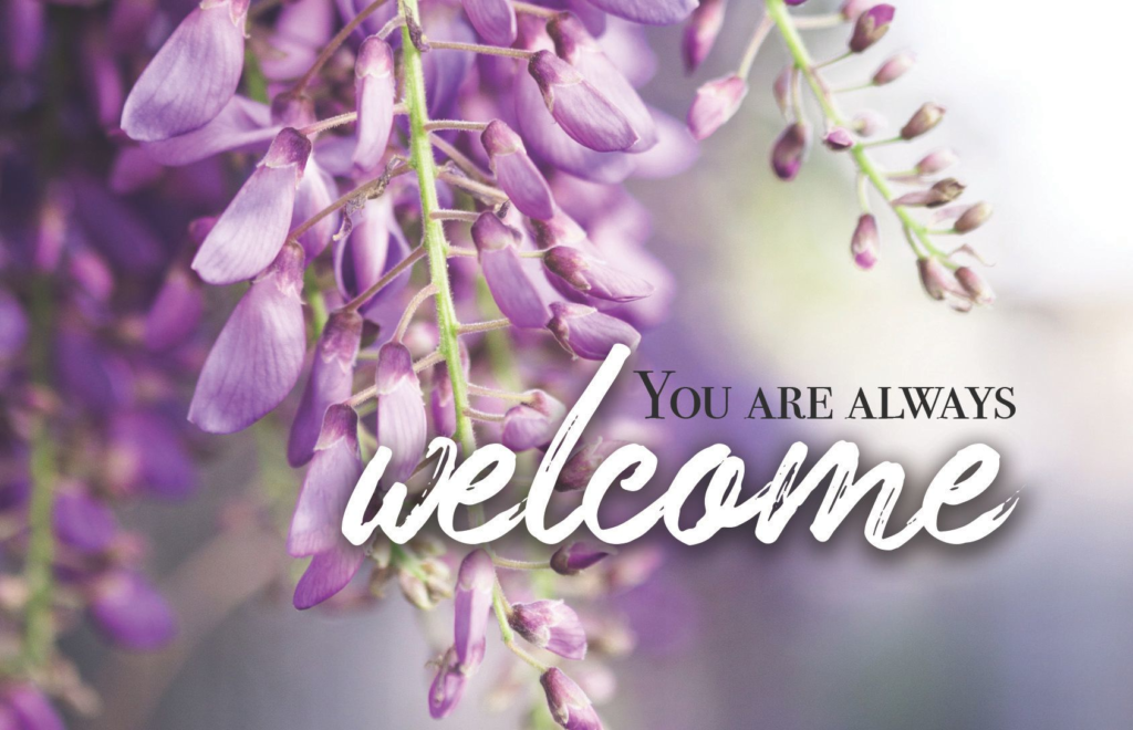 You Are Always Welcome  Postcard (Pkg 25) Invitation