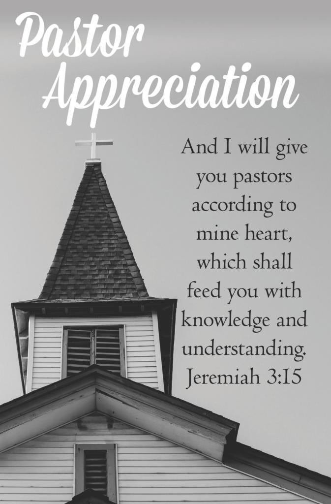 We Love Our Pastors  Bulletin (Pkg 100) Pastor Appreciation