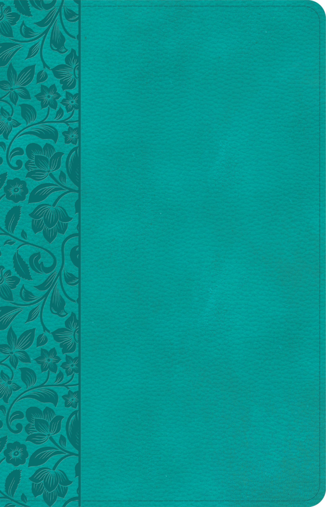NASB Large Print Personal Size Reference Bible, Teal LeatherTouch