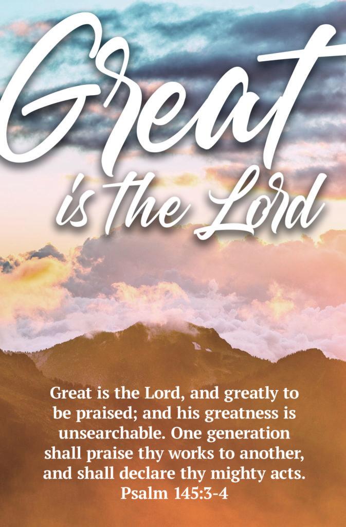 Greatly to be Praised  Bulletin (Pkg 100) General Worship