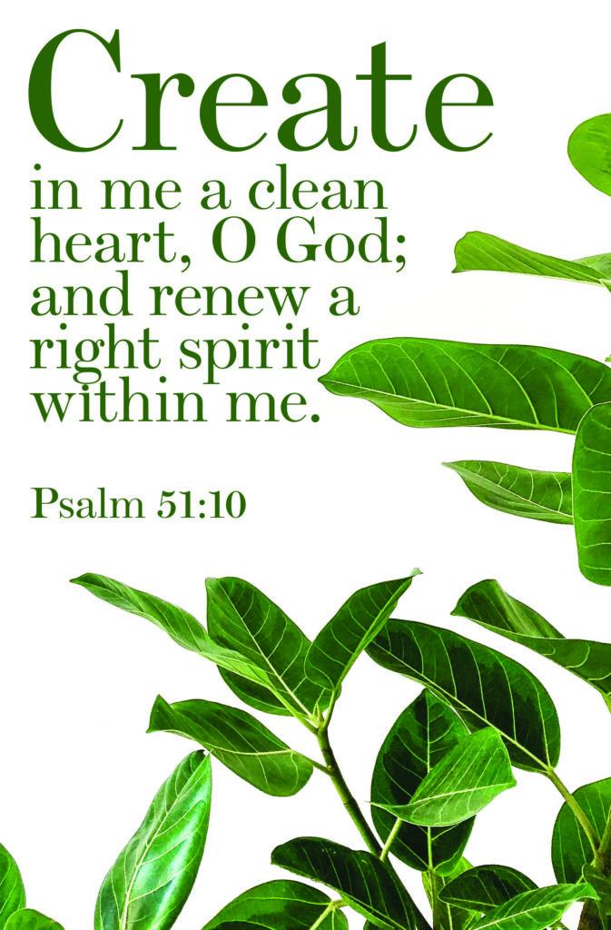 A Clean Heart  Bulletin (Pkg 100) General Worship
