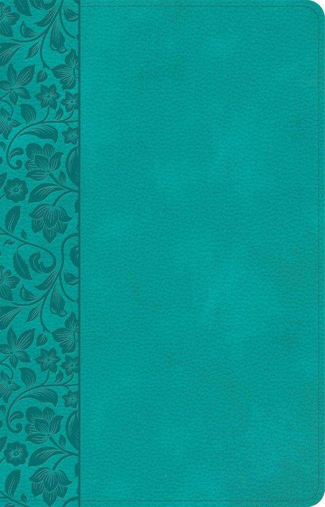 NASB Large Print Personal Size Reference Bible, Teal LeatherTouch, Indexed